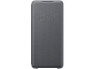 Husa Textil Samsung Galaxy S20 Plus G985, Led View, Gri, Blister EF-NG985PJEGEU