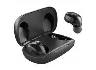 Handsfree Casti Bluetooth Awei T20 TWS + suport incarcare, MultiPoint, Negru, Blister