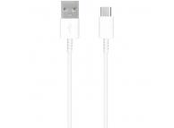 Cablu Date si Incarcare USB la USB Type-C Samsung EP-DR140AWE, 0.8 m, Alb, Bulk