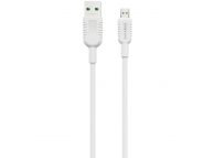 Cablu Date si Incarcare USB la MicroUSB Borofone BX33, 4A Billow, 1.2 m, Alb, Blister