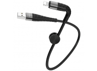 Cablu Date si Incarcare USB la Lightning Borofone BX32 Munificent, 0.25 m, Negru, Blister