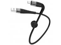 Cablu Date si Incarcare USB la MicroUSB Borofone BX32 Munificent, 0.25 m, Negru, Blister