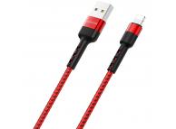 Cablu Date si Incarcare USB la Lightning Borofone BX34 Advantage, 1 m, Rosu, Blister