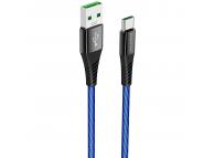 Cablu Date si Incarcare USB la USB Type-C Borofone BU13 Craft, 5A, 1.2 m, Negru, Blister