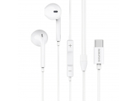 Handsfree Casti EarBuds Borofone BM27 Amazing Sound, Cu microfon, USB Type-C, Alb, Blister