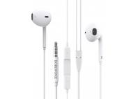 Handsfree Casti EarBuds Borofone BM30, Cu microfon, 3.5 mm, Alb, Blister