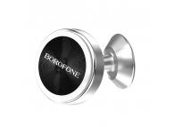 Suport Auto Universal Borofone BH5 Platinum Metal magnetic, Argintiu, Blister