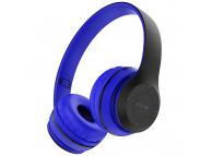 Handsfree Casti Bluetooth Borofone BO4 Charming Rhyme Over-Ear, Albastru, Blister