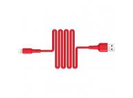 Cablu Date si Incarcare USB la Lightning Borofone BX30 Silicone, 1 m, Rosu, Blister