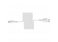 Cablu Date si Incarcare USB la MicroUSB Borofone BX30 Silicone, 1 m, Alb, Blister