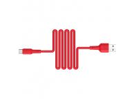 Cablu Date si Incarcare USB la USB Type-C Borofone BX30 Silicone, 1 m, Rosu, Blister
