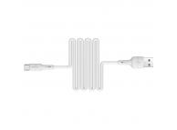 Cablu Date si Incarcare USB la USB Type-C Borofone BX30 Silicone, 1 m, Alb, Blister