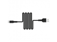 Cablu Date si Incarcare USB la USB Type-C Borofone BX30 Silicone, 1 m, Negru, Blister