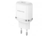 Incarcator Retea cu cablu MicroUSB Borofone BA36A, QC3.0, 18W, 1 X USB, Alb, Blister