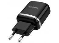 Incarcator Retea cu cablu MiniUSB - USB Tip-C Borofone BA36A, QC3.0, 18W, 1 X USB, Negru, Blister