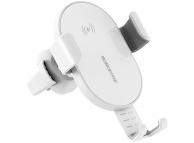 Suport Auto Universal Borofone cu incarcare Wireless, BQ5 Cherish, Alb, Blister
