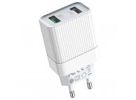 Incarcator Retea cu cablu MicroUSB Borofone BA39A Speedway QC3.0, 2 X USB, Alb, Blister