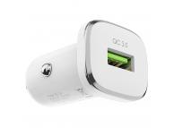 Incarcator Auto cu cablu USB Tip-C Borofone BZ12A Lasting power, QC3.0, 1 X USB, Alb, Blister