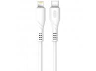 Cablu Date si Incarcare USB Type-C la Lightning XO Design NB122, 18W, 1 m, Alb, Blister