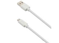 Cablu Date si Incarcare USB la Lightning Celly, 3 m, Alb USBLIGHT3MW