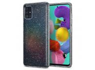 Husa TPU Spigen Liquid Crystal Glitter pentru Samsung Galaxy A71, Transparenta, Blister ACS00935