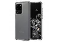 Husa TPU Spigen Liquid Crystal pentru Samsung Galaxy S20 Ultra G988, Transparenta, Blister ACS00709