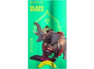 Folie Protectie Ecran Borofone pentru Huawei Mate 30, Sticla securizata, Full Face, Full Glue, Elephant series, Neagra, Blister