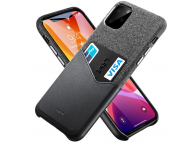 Husa Piele - Textil ESR Metro Wallet pentru Apple iPhone 11 Pro, Neagra, Blister
