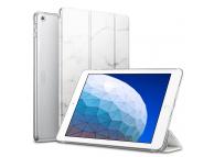 Husa Tableta Plastic - Poliuretan ESR Marble pentru Apple iPad Air (2019), Alba, Blister