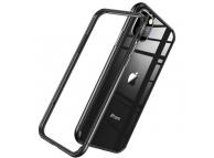 Husa Plastic - TPU ESR Edge Guard pentru Apple iPhone 11 Pro, Neagra Transparenta, Blister