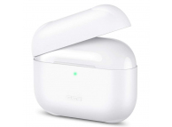 Husa Silicon ESR Breeze pentru Apple AirPods Pro, Alb, Blister