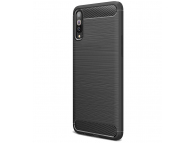 Husa TPU TECH-PROTECT Carbon pentru Samsung Galaxy A50 A505 / Samsung Galaxy A30s, Neagra, Blister