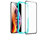 Folie Protectie Ecran ESR pentru Apple iPhone 11 Pro, Sticla securizata, Full Face, Full Glue, Shield 3D, Neagra, Blister