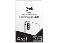 Folie Protectie Camera spate 3MK pentru Apple iPhone 11 Pro, Sticla securizata, Set 4 buc, Blister