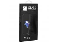 Folie Protectie Ecran OEM pentru Nokia 2.2, Sticla securizata, Full Face, Full Glue, 5D, 9H, Neagra, Blister