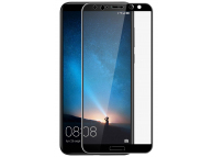 Folie Protectie Ecran OEM pentru Huawei Mate 10 Lite, Sticla securizata, Full Face, Full Glue, SMART, Neagra, Blister