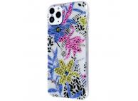 Husa TPU OEM Ultra Trendy Spring Time2 pentru Apple iPhone 11, Multicolor Transparenta, Bulk