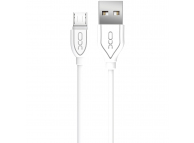 Cablu Date si Incarcare USB la MicroUSB XO Design NB8 2,1A, 1 m, Alb, Blister