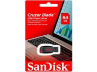 Memorie Externa SanDisk Cruzer Blade, USB 2.0, 64Gb, Neagra, Blister SDCZ50-064G-B35