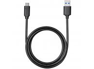 Cablu Date si Incarcare USB 3.0 la USB Type-C Varta, 1 m, Negru, Blister