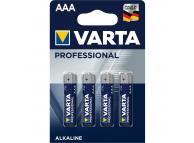 Baterie Varta Professional, AAA / LR03, Set 4 bucati, Blister