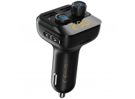 Emitator FM Bluetooth si MP3 Player AUTO cu buton Apel si 2 x USB Remax RCC105,  Negru Blister