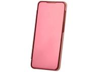 Husa Plastic OEM Clear View pentru Samsung Galaxy S20 Ultra G988, Roz Aurie, Blister