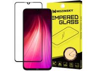 Folie Protectie Ecran WZK pentru Xiaomi Redmi Note 8T / Xiaomi Redmi Note 8, Sticla securizata, Full Cover, Full Glue, Neagra, Blister