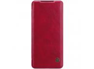 Husa Piele Nillkin Qin Book pentru Samsung Galaxy S20 Plus G985, Rosie, Blister