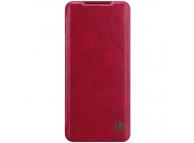Husa Piele Nillkin Qin Book pentru Samsung Galaxy S20 G980, Rosie, Blister