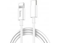 Cablu Date si Incarcare USB Type-C la Lightning HOCO X36 Swift, 1 m, Alb, Blister