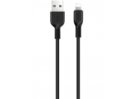 Cablu Date si Incarcare USB la Lightning HOCO X13 Easy, 1 m, Negru, Blister