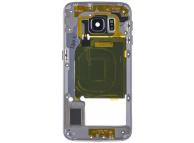 Carcasa Mijloc - Geam Camera Spate Negru Samsung Galaxy S6 edge G925