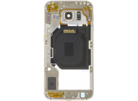 Carcasa Mijloc - Geam Camera Spate Auriu Samsung Galaxy S6 G920